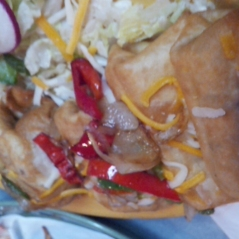 Upside down mini fajita chimi's with lots of peppers
